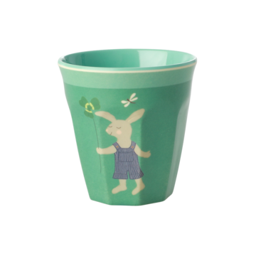 Rice DK | Kids Small Melamine Cup with Green Bunny Print