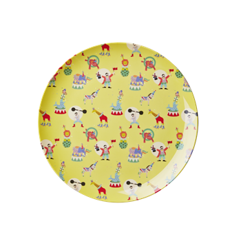 Rice DK | Kids Melamine Lunch Plate with Boys Circus Print