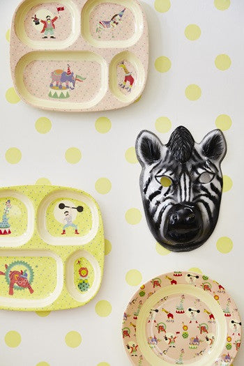 Rice DK | Kids Melamine Spoon and Fork with Boy Circus Print