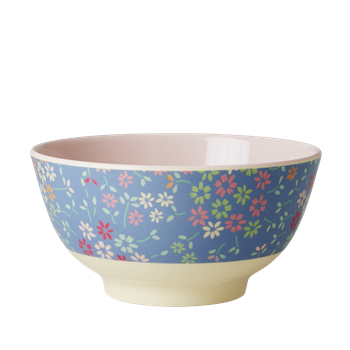 Rice DK | Two-Tone Melamine Bowl Wild Flower Print