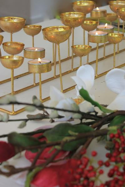 Golden Cup Tea Light Holder