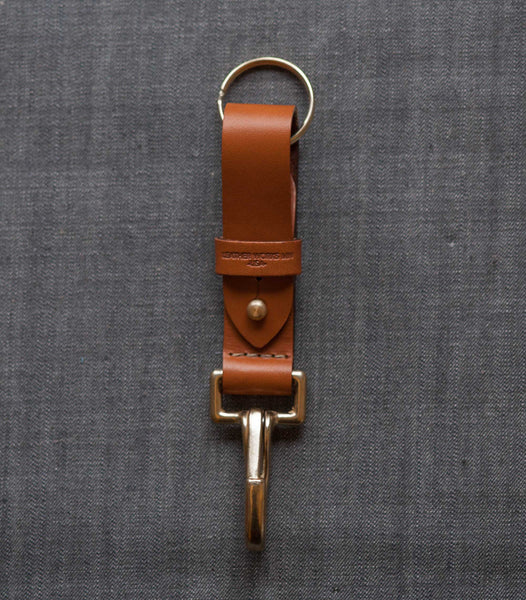 Leather Key FOB - Tan