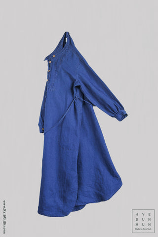 Women's Artisan Washed Indigo Dress - S