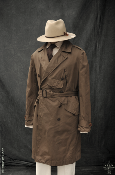 Wax Cotton Motorcycle Trench- M