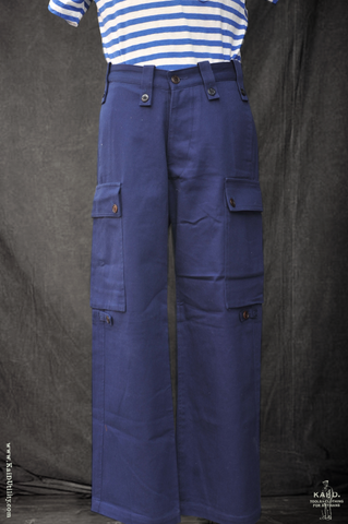 French Twill Wide Leg Utility Pants - 32