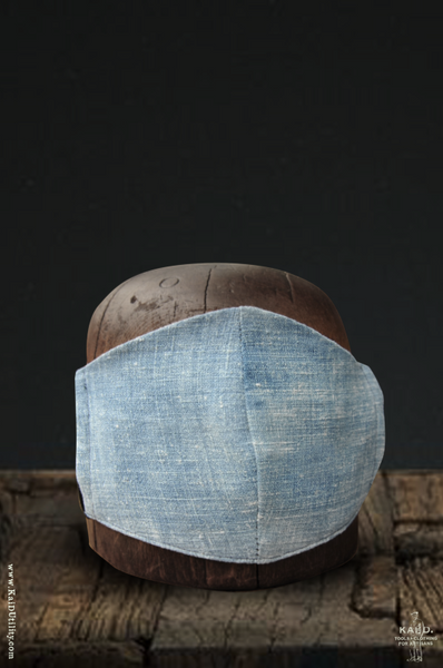 Cloth Face Mask - Boro Vintage Denim - Light Indigo