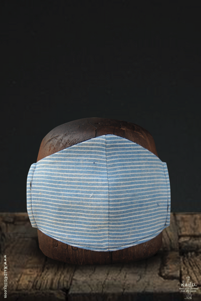 Cloth Face Mask - Faded Indigo Stripe