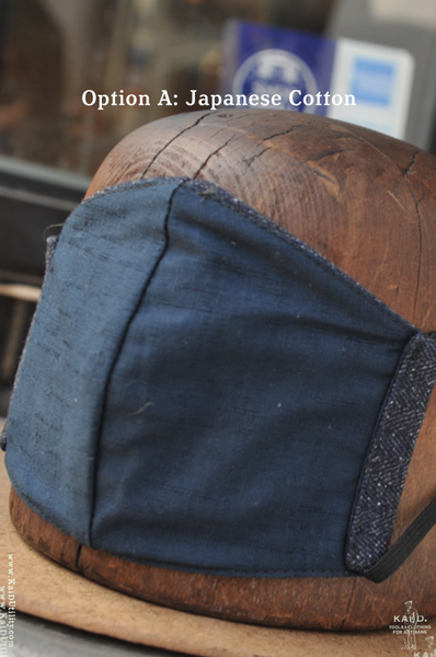 Cloth Face Mask - Herringbone Tweed Denim