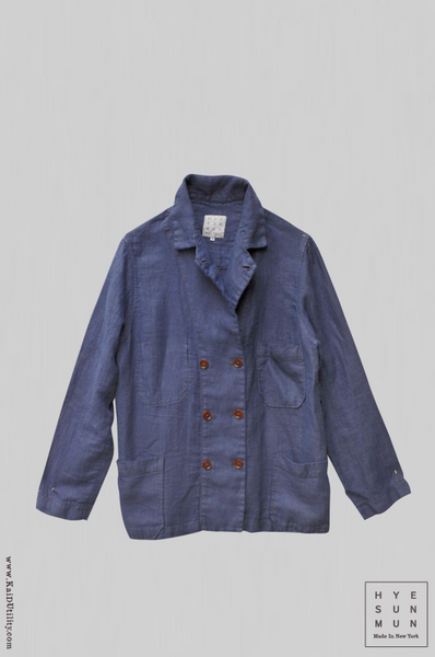 Garment Dyed Hutton Jacket - French Blue - M, L