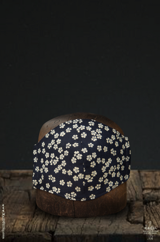Cloth Face Mask - Indigo Japanese Floral