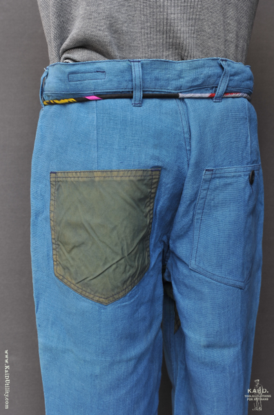 French Army Cargo Pants - Indigo - 30, 32