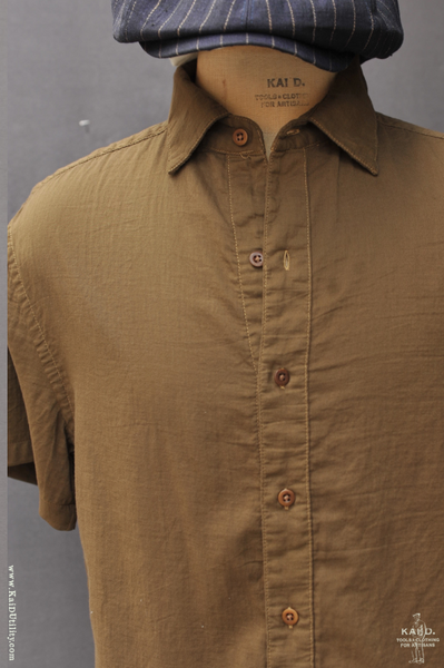 Theo Short Sleeve Shirt - Olive - L, XL