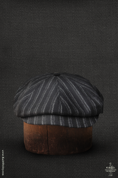 Baker Boy Hat - Chalk Stripe Wool - M, L