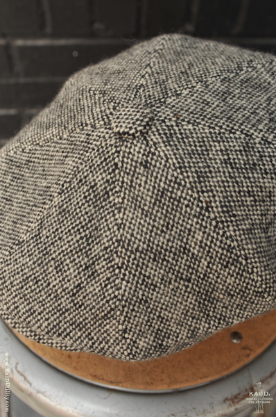 Peaky Hat -  Vintage Salt-N-Pepper Tweed - XL