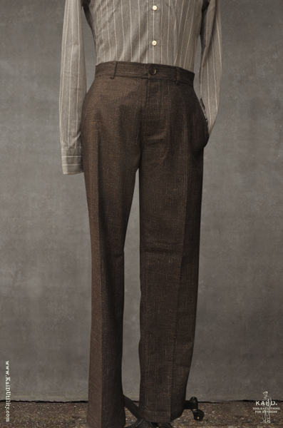 Fred Plain Front Trousers - Macchiato - S, M, L, XL