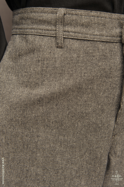 Cotton Melange Trousers - Gravel -L, XL
