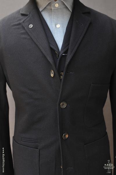 Anker Four Button Blazer - Deep Indigo - M, L, XL