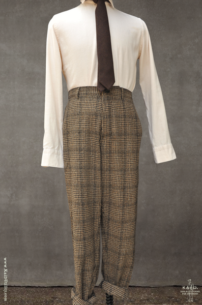 Ken Wide Cut Trousers - Plaid - L, XL