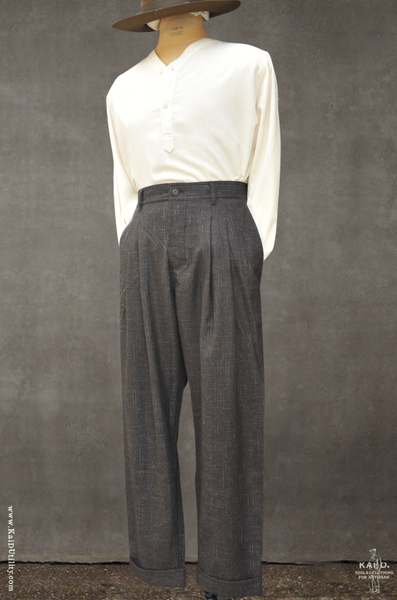 Double Pleat Trousers - Macchiato - S, M, L, XL