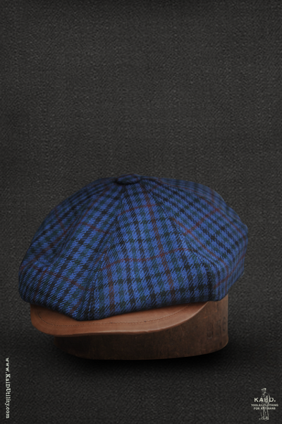 Peaky Hat -  English Wool with Leather - M, L, XL