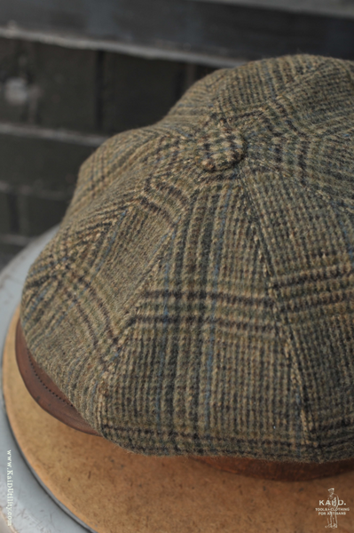 Peaky Hat -  Wool Cashmere with Leather - L