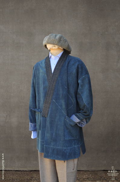 Japanese Farmer Coat - Vintage Denim - S + M