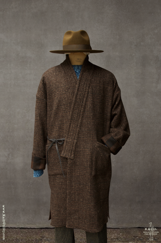 Full Length Japanese Farmer Coat - Montana - L