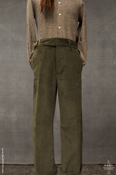 Finch Buckle Front Trousers - Olive - 30, 32, 34, 36