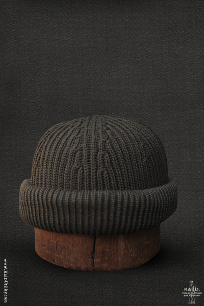 Cardigan Stitch Beanie - Hunting Green