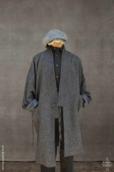 Full Length Japanese Farmer Coat - Nagasaki - Medium