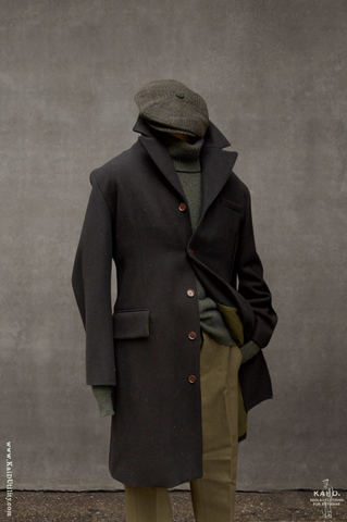 Dense Wool Shelby Over Coat - M