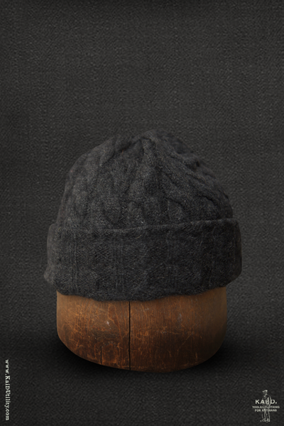 Fisherman Ribbed Beanie - Charcoal Heather