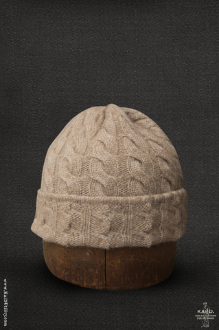 Fisherman Ribbed Beanie - Wheat Heather