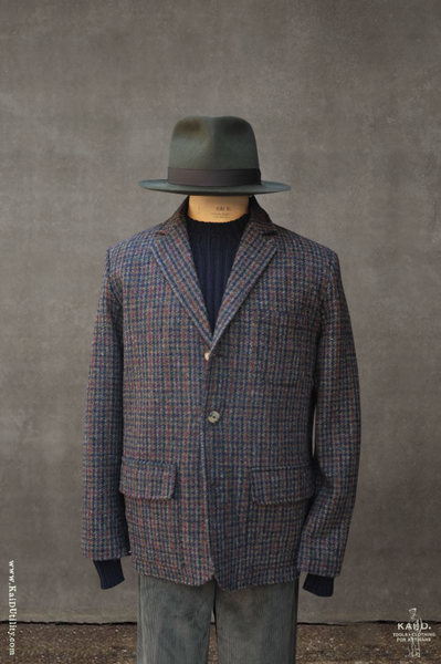 Harris Tweed Casual Jacket - Houndstooth - M, L, XL