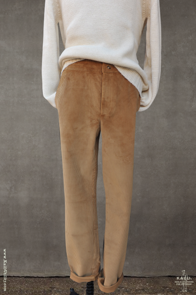 Heavy Weight Corduroy Trousers - Gold - 30, 32, 34