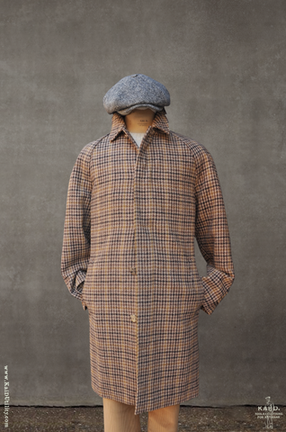 Harris Tweed Long Mac - Houndstooth - M
