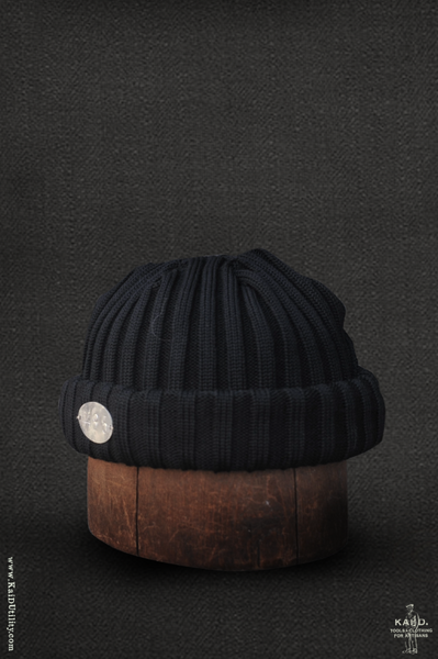 Ribbed Beanie - Black