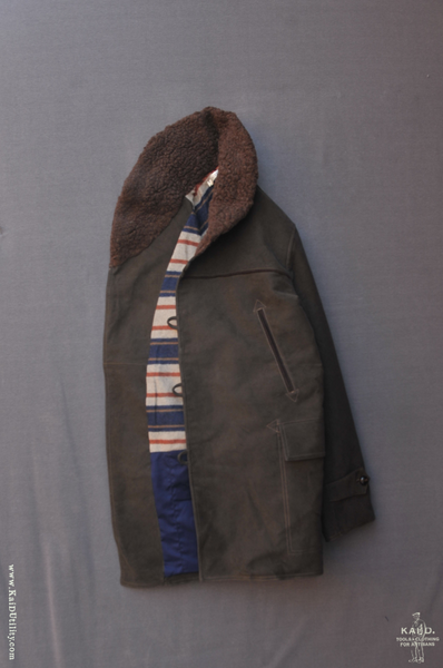 Mackinaw Moleskin Coat - Brown - M, L, XL