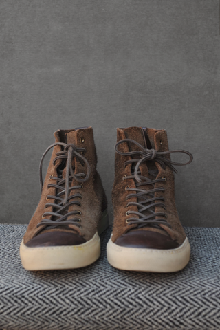 Pre-owned Buttero High Top Suede Boots - 10