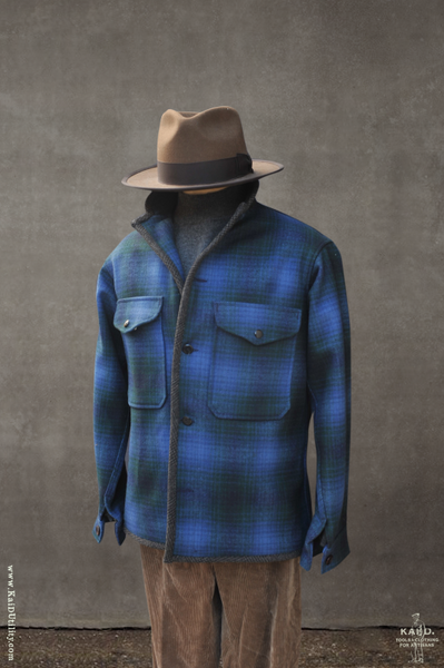 Great Smoky Wool Jacket - Blue Plaid - M