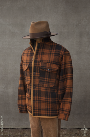 Great Smoky Wool Jacket - Rust Plaid - L