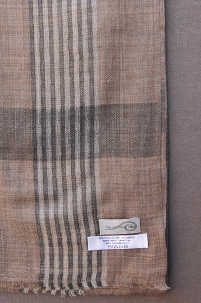 Ultra Light Cashmere Scarf - Brown Heather