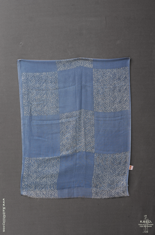 San Sebastian wool scarf - Denim Blue