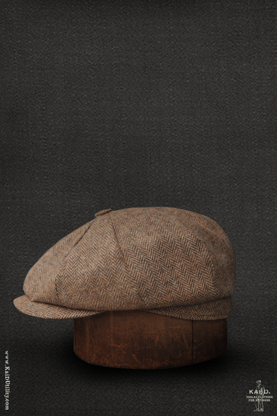 Andy Hat - Wheat Heather Herringbone - L, XL, XXL