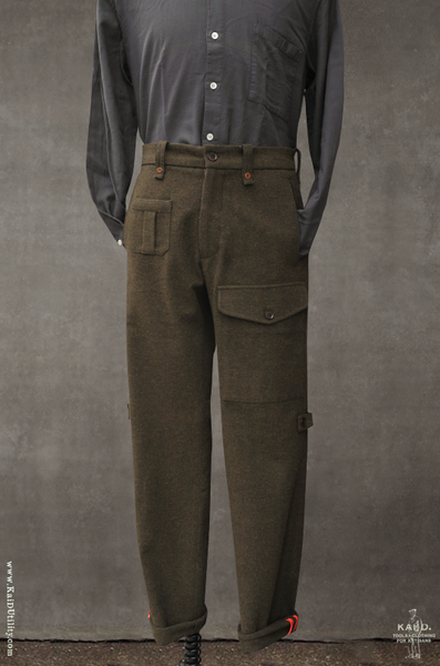 Expedition Pant - Olive cotton wool - 30, 32, 34, 36