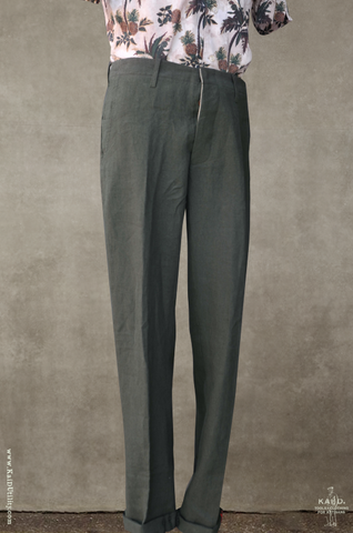 Belgian Linen Borough Pants - Officer Olive - 30, 32