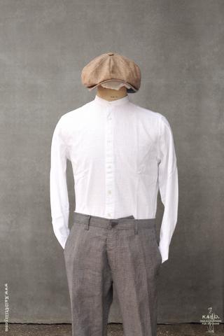 Jacquard Windowpane Buster Shirt - White - 39, 41, 43