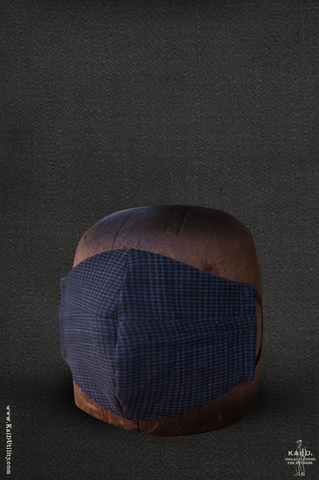 Cloth Face Mask -  Tonal Houndstooth Cotton