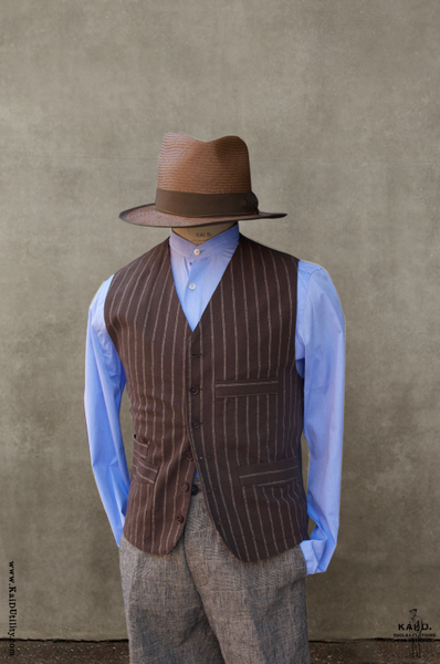 Shoemaker's Vest - Twin Stripe Cotton - M, L, XL