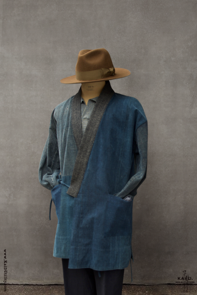 Japanese Farmer Coat - Vintage Denim - Small